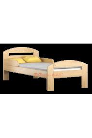 Letto singolo in legno di pino massello Timmy 180x80 cm