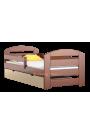 Lettino in legno di pino Kam3 con cassetto 160x80 cm