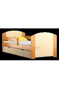 Lettino singolo bambino in legno di pino massello con cassetto Kam4 160x80 cm
