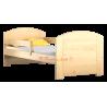 Lettino in legno di pino massello Kam4 160x70 cm
