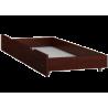 Lettino in legno di pino massello Bill1 180x80 cm