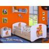 Lettino singolo Happy Pero Collezione con cassetto e materasso 140x70 cm