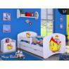 Lettino singolo ragazzo Collezione di Disegni con cassetto e materasso 140x70 cm