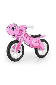 Dino rosa bici bambini in legno senza pedali