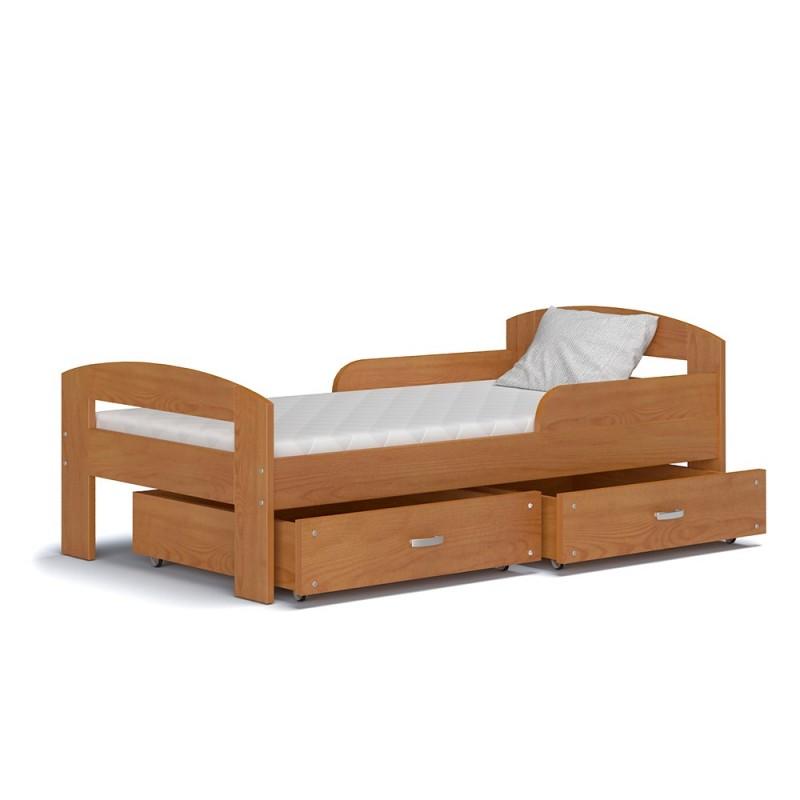 Letto singolo in legno di pino massello greg con cassetto - Letto singolo in legno massello ...