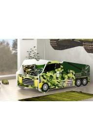 Lettino camion militare con materasso 140x70 cm