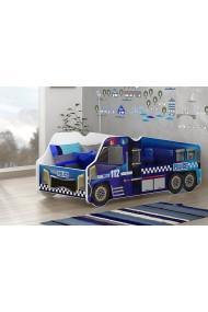 Lettino camion della Polizia con materasso 140x70 cm