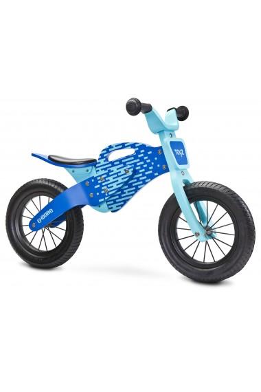 Enduro blu bici bambini in legno senza pedali