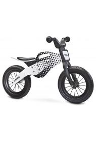 Enduro grigio bici bambini in legno senza pedali