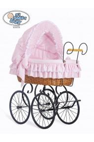 Culla vimini neonato Vintage Retro - Rosa