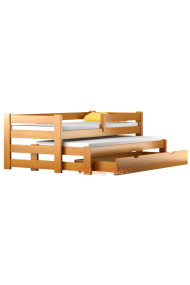 Letto scorrevole estraibile in legno massello Pablo 160x70 cm