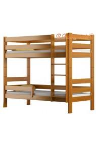 Letto a castello in legno massello Casper 160x70 cm