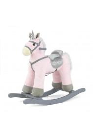 Cavallo a dondolo Pepe Unicorno rosa