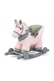 Cavallo a dondolo Polly Unicorno rosa