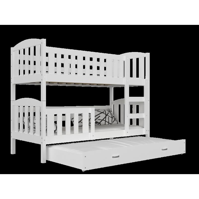 Letto a castello con estraibile jacob 3 160x80 cm - Letto a castello con terzo letto estraibile ...